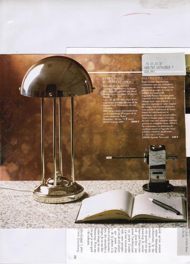 Brass Avantgardistic Josef Hoffmann Secessionist Jugendstil Table Lamp Re-Edition  For Sale