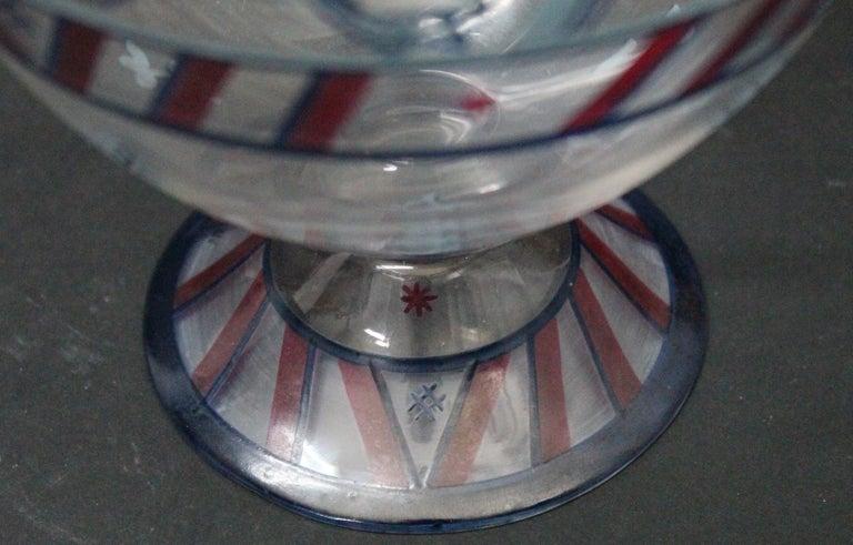 Josef Hoffmann/Vally Wieselthier/Wiener Werkstaette a Glass Centrepiece, 1917 For Sale 2