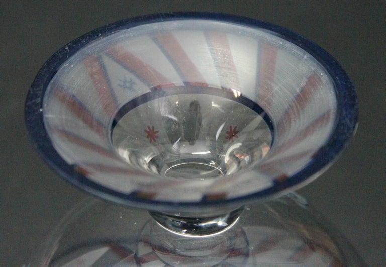 Josef Hoffmann/Vally Wieselthier/Wiener Werkstaette a Glass Centrepiece, 1917 For Sale 5