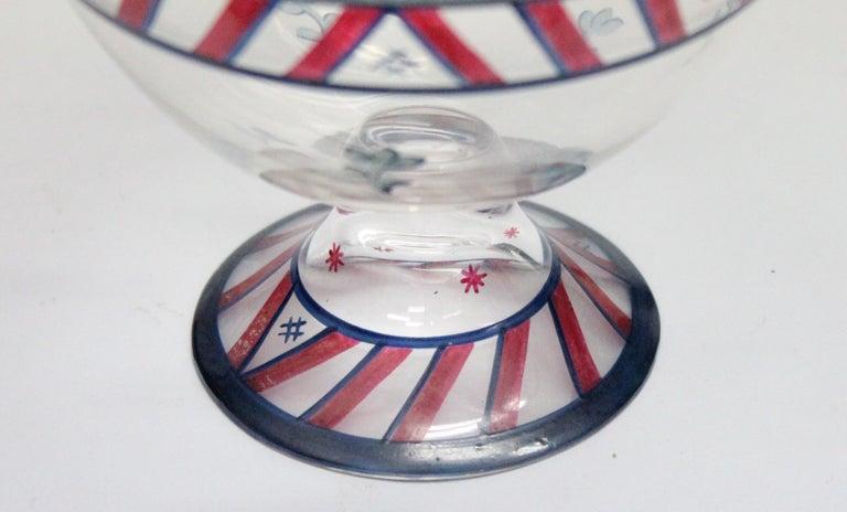 Josef Hoffmann/Vally Wieselthier/Wiener Werkstaette a Glass Centrepiece, 1917 For Sale 7