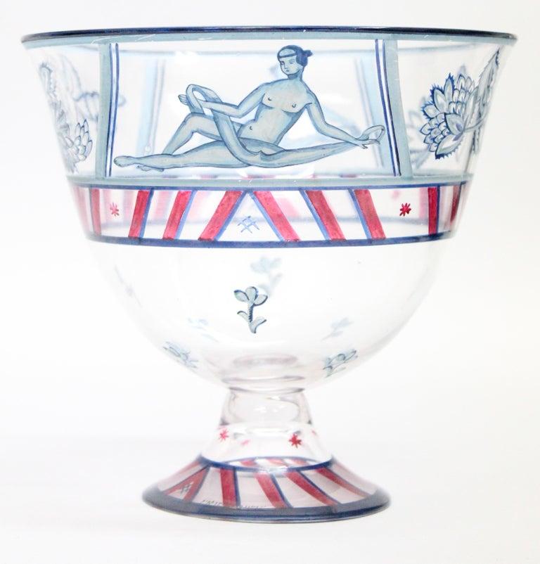 Jugendstil Josef Hoffmann/Vally Wieselthier/Wiener Werkstaette a Glass Centrepiece, 1917 For Sale