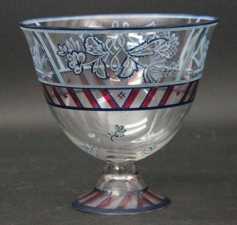 Austrian Josef Hoffmann/Vally Wieselthier/Wiener Werkstaette a Glass Centrepiece, 1917 For Sale