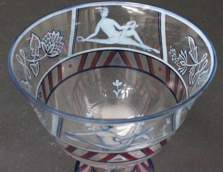 Josef Hoffmann/Vally Wieselthier/Wiener Werkstaette a Glass Centrepiece, 1917 For Sale 1