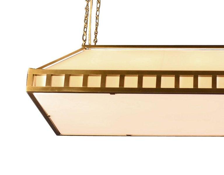 Brass Josef Hoffmann & Wiener Werkstaette Jugendstil Pendant, Re-Edition   For Sale