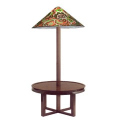 Josef Hoffmann Wiener Werkstaette Floor-Table-Lamp Re-Edition, Beechwood