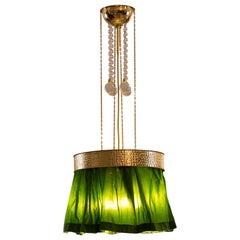 Josef Hoffmann & Wiener Werkstaette Hanging Lamp Chandelier, Pendant, Re-Edition