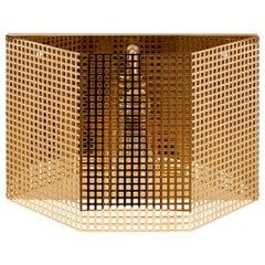 Josef Hoffmann/Wiener Werkstaette Jugendstil Brass Wall Light, Re-Edition