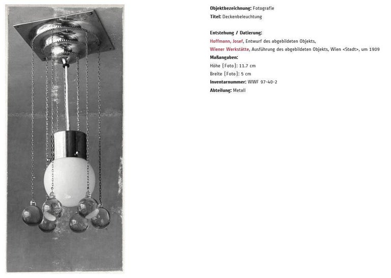 Jugendstil Josef Hoffmann & Wiener Werkstaette Pende, Re Edition For Sale