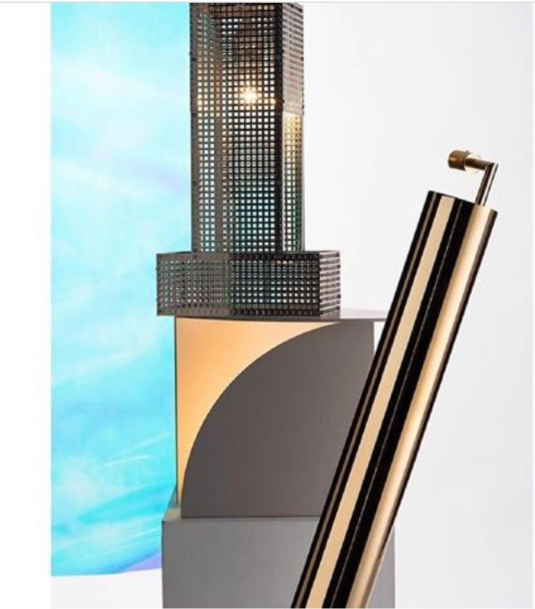 Jugendstil Puristic Josef Hoffmann & Wiener Werkstaette Table Lamp Re-Edition  For Sale