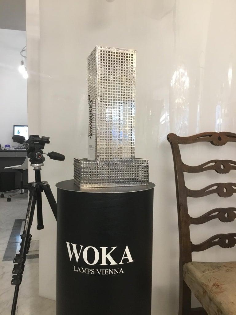 Austrian Puristic Josef Hoffmann & Wiener Werkstaette Table Lamp Re-Edition  For Sale