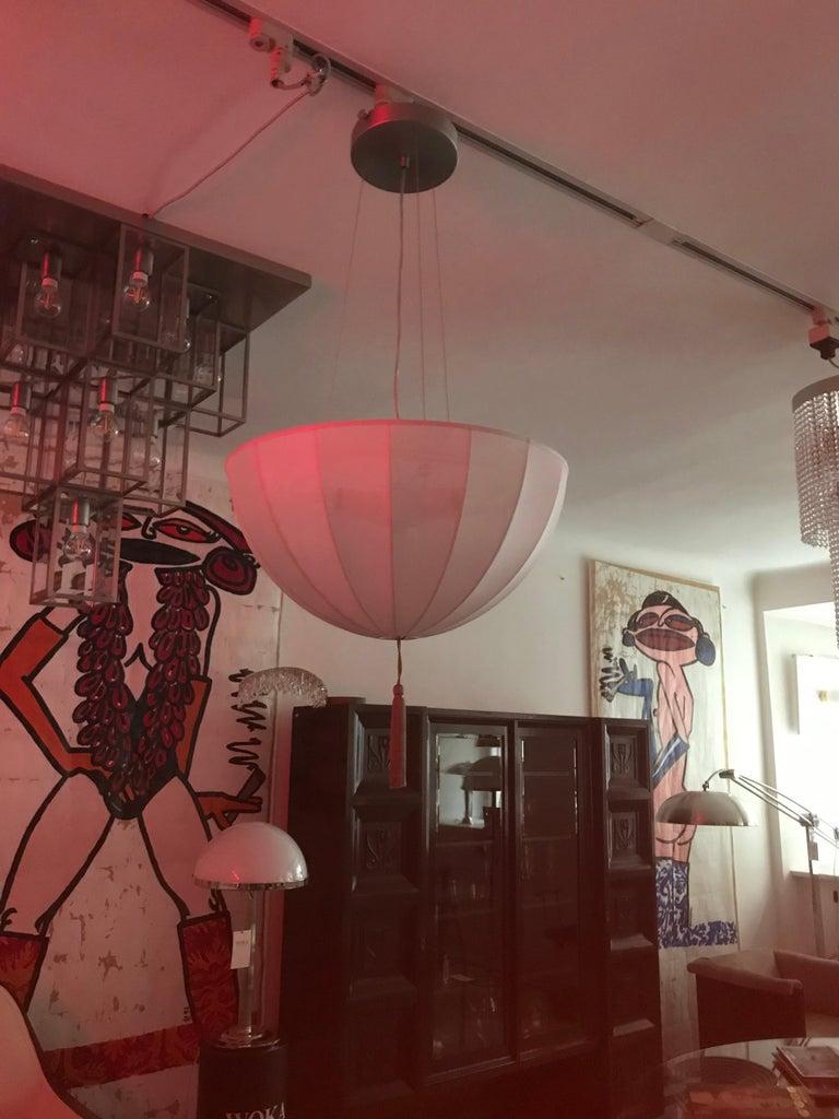 Contemporary Josef Hoffmann & Wiener Werkstätte Silk and Brass Chandelier, Re Edition For Sale