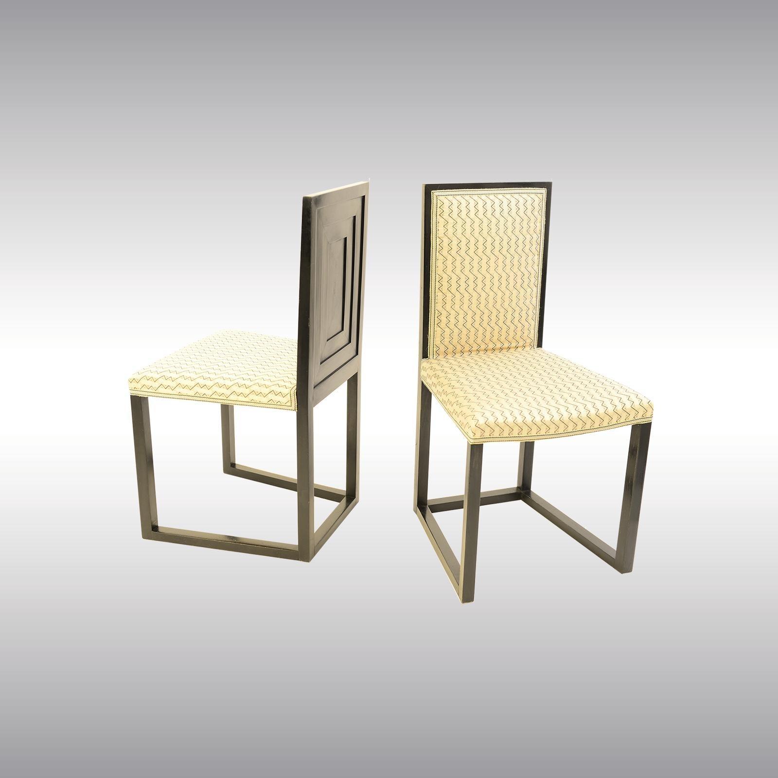 Pair Of Original Josef Hoffmann Wiener Werkstätte Chairs 1904 Jugendstil
