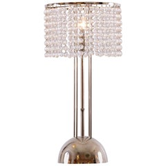 Josef Hoffmann Crystal Table Lamp Jugendstil Vienna Secession, Re Edtion