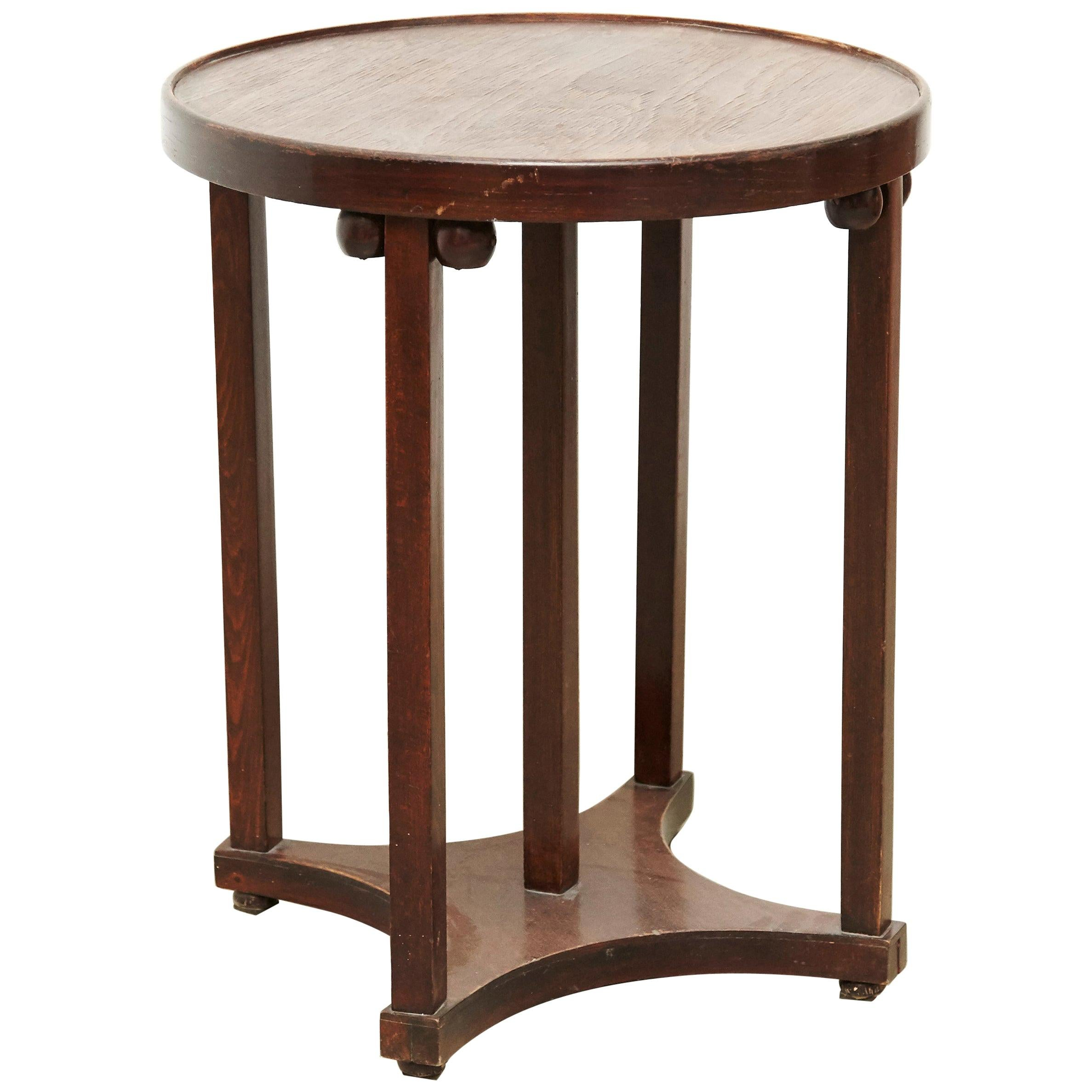 Josef Hoffmann Wood Table for Kohn, circa 1920