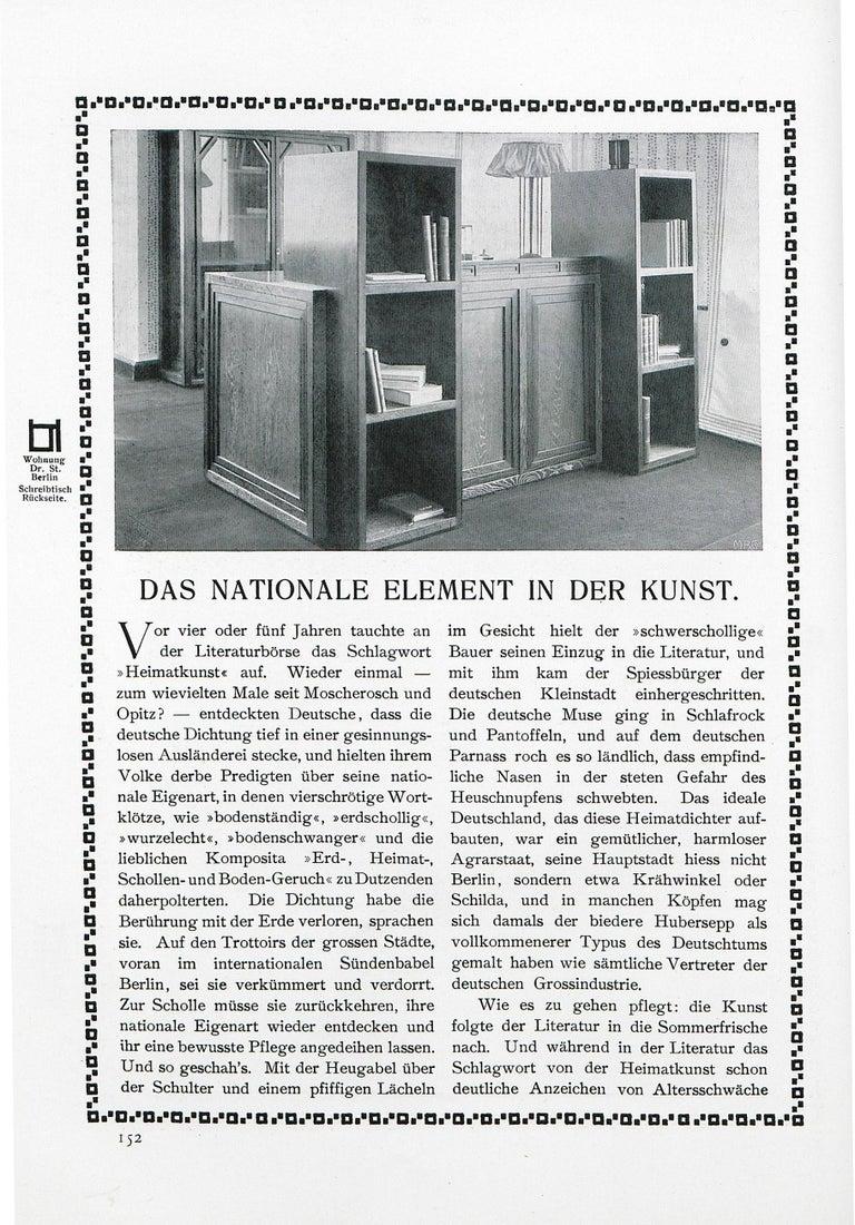 Hand-Crafted Josef Hoffmann&Wiener Werkstätte Wittgenstein Silk&brass Table Lamp, Re-Edition For Sale