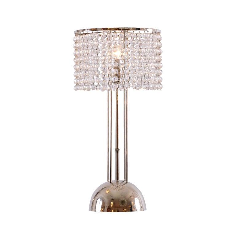Josef Hoffmann&Wiener Werkstätte Wittgenstein Silk&brass Table Lamp, Re-Edition In New Condition For Sale In Vienna, AT