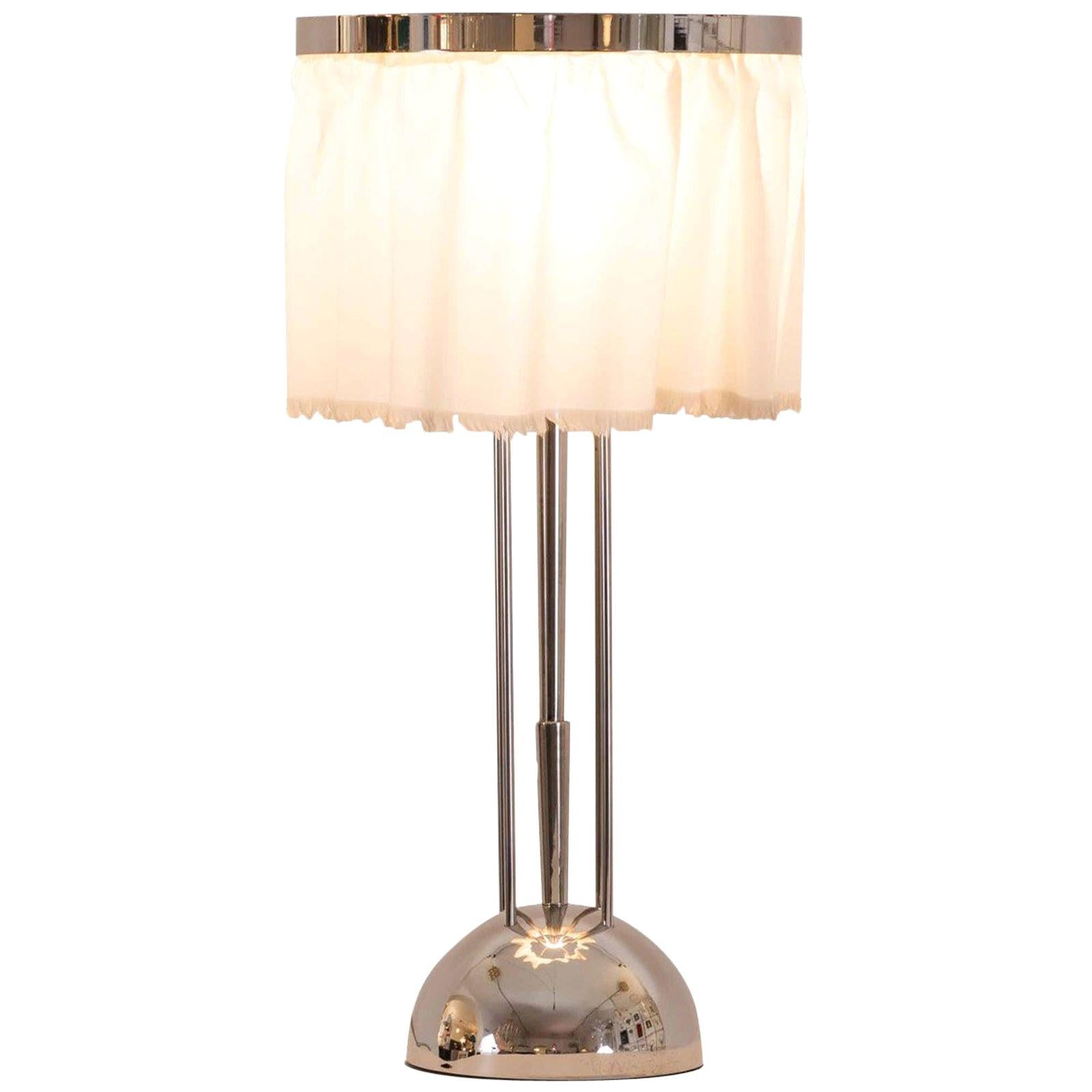 Josef Hoffmann&Wiener Werkstätte Wittgenstein Silk&brass Table Lamp, Re-Edition