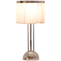 Josef Hoffmann&Wiener Werkstätte Wittgenstein Silk&brass Table Lamp, Re-Edition