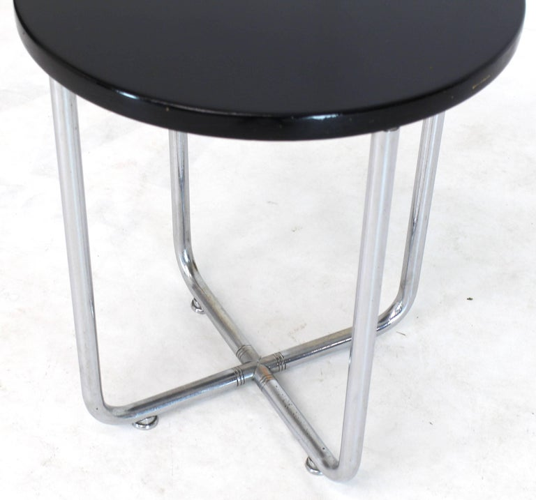 American Josef Hofmann Art Deco Bauhaus Round Side Occasional Table Stand For Sale