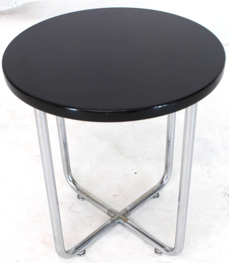 20th Century Josef Hofmann Art Deco Bauhaus Round Side Occasional Table Stand For Sale