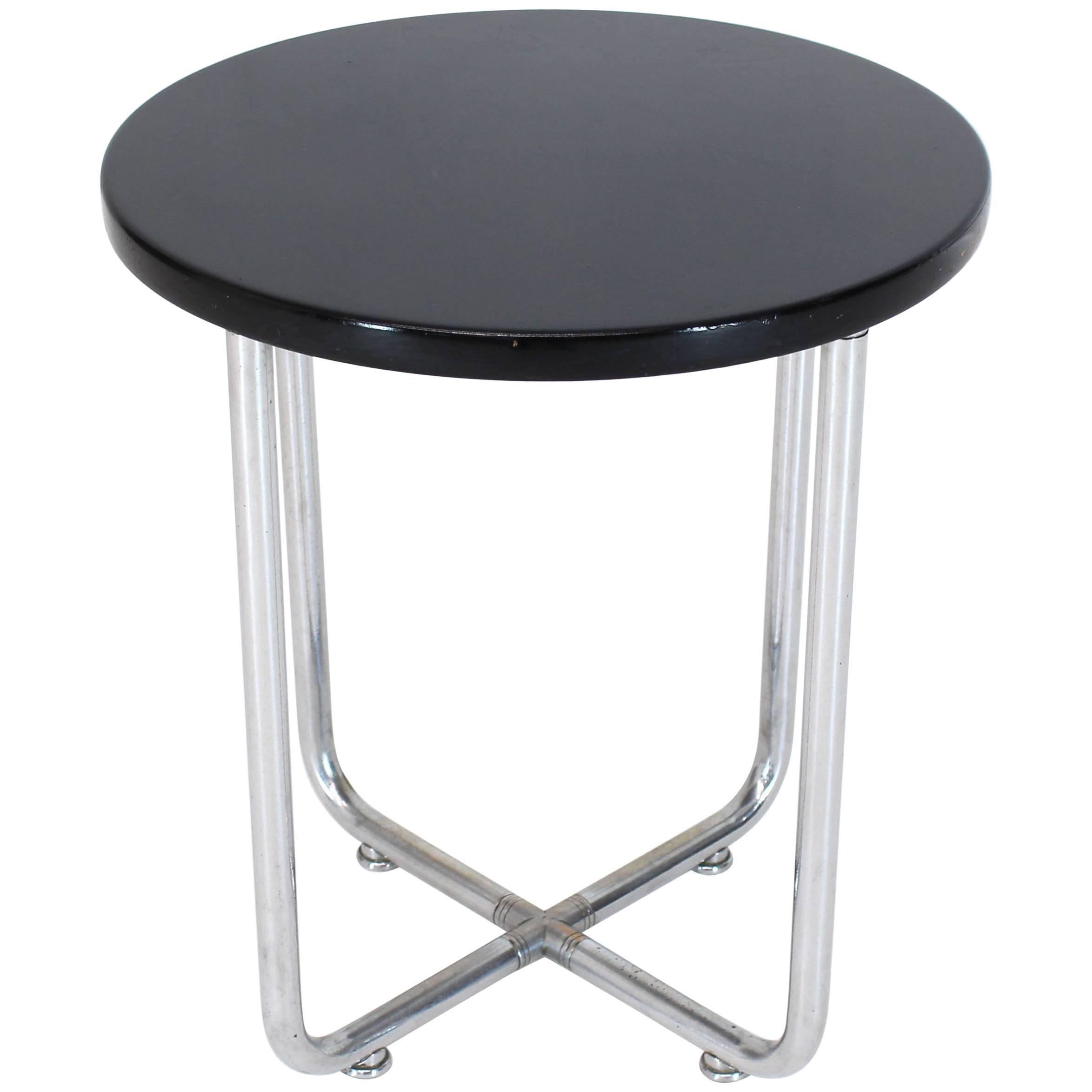 Josef Hofmann Art Deco Bauhaus Round Side Occasional Table Stand