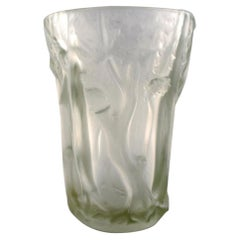"Josef Inwald, Large Art Deco ""Dans la forêt"" Vase in Art Glass, 1930s"