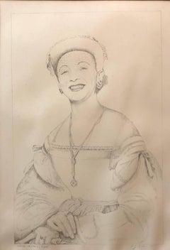 Still Life with Vera as Raphael Original Drawing