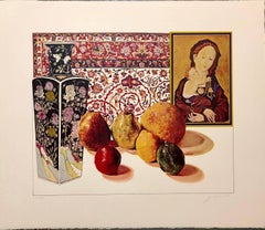 Still Life with German Master Pop Art Triptych Serigraph Suite Hand Signed