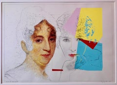 Still Life with Sully and Warhol, Pop Art Mixed Media Signed Painting Drawing