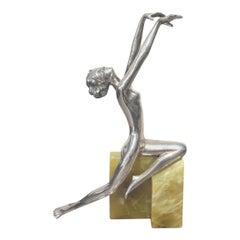 Josef Lorenzl Art Deco Bronze 'Danielle'