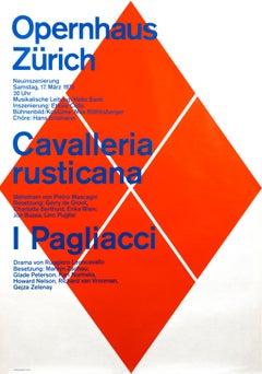 """""""Opernhaus Zurich - Cavalleria Rusticana"""" Original Vintage Opera Poster"""