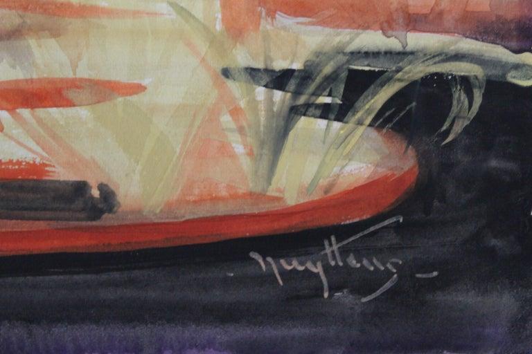 American Josef Pierre Nuyttens, Buckingham Fountain Chicago Watercolor For Sale