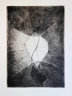 Abstract Window - Original color Etching and Aquatint - 1967