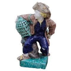 Josef Wackerle Porcelain Sculpture Lifesize Bird-Dealer with Cage