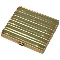 Joseff Hoffmann Gold Cigarette Case, Wiener Werkstatte