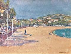 Sant Feliu de Guixols beach Spain seascape oil canvas