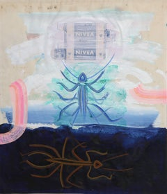 Nivea and Insects, 1966, Mixed Media Collage by Josep Grau Garriga
