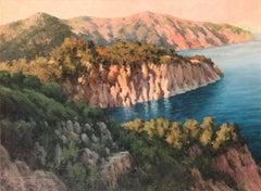 Begur Costa Brava Spanish seascape oil on canvas painting