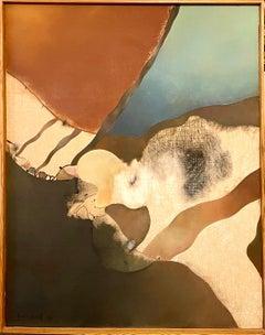 Abstract Spanish Catalan Oil Painting Josep Guinovart from Joan Prats Gallery