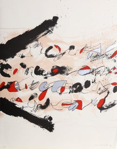 New York, Abstract Expressionist Lithograph by Josep Guinovart
