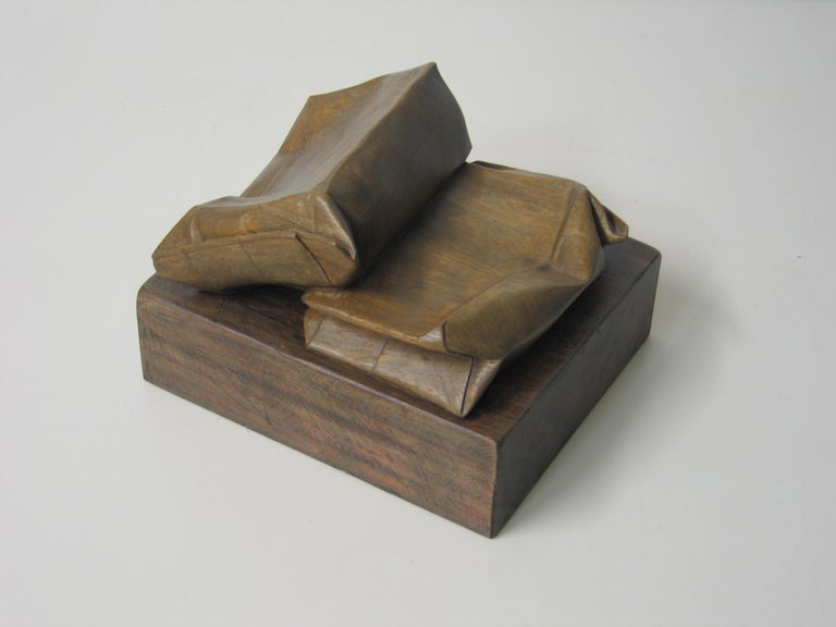 Magnificent sculpture on wood by Spanish artist CODINA CORONA. Sculpture of one piece of wood without pieces superposed Josep Maria Codina Corona (Igualada, 1935 - Barcelona, 2006) was a Catalan sculptor. He studied at the Llotja School of Barcelona
