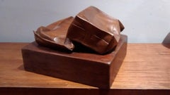 """""""tetrabrik""""- Original- woodrealistic sculpture-"""