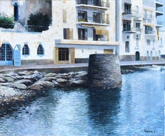 Vayreda Canadell Cadaques seascape, Spain - original oil painting