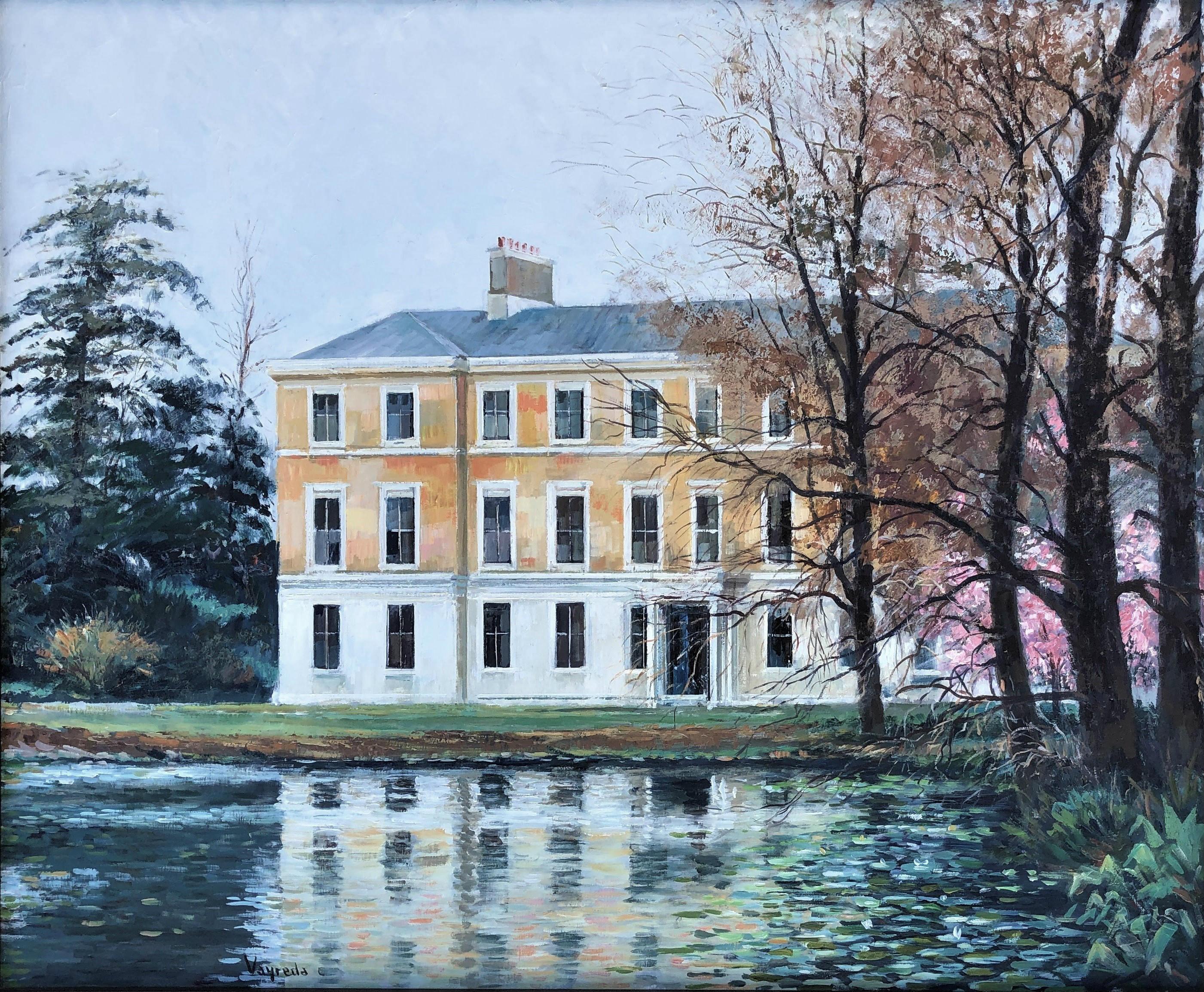 Vayreda Canadell - Kew gardens view, London original oil canvas painting