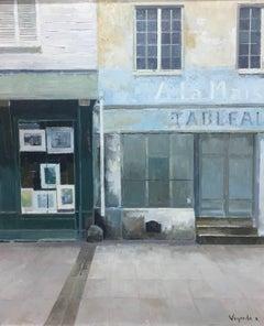 street of France original figurative acrylic canvas painting
