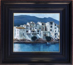 Vayreda Canadell seascape Cadaques Spain oil on canvas painting
