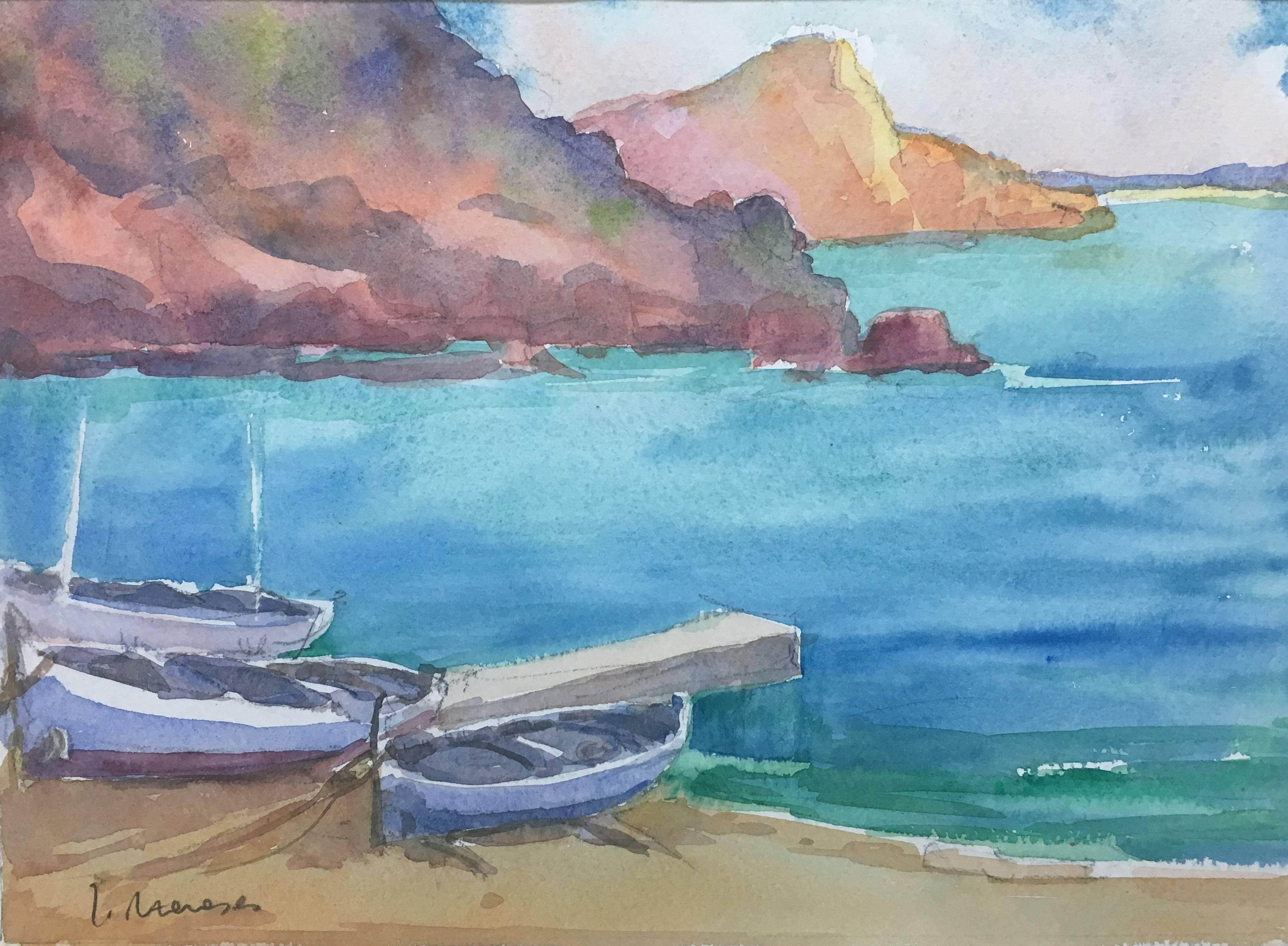 MAJORCA. COAST. SPAIN- original watercolor painting