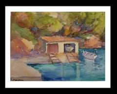 Majorca original watercolor papel impressionist painting