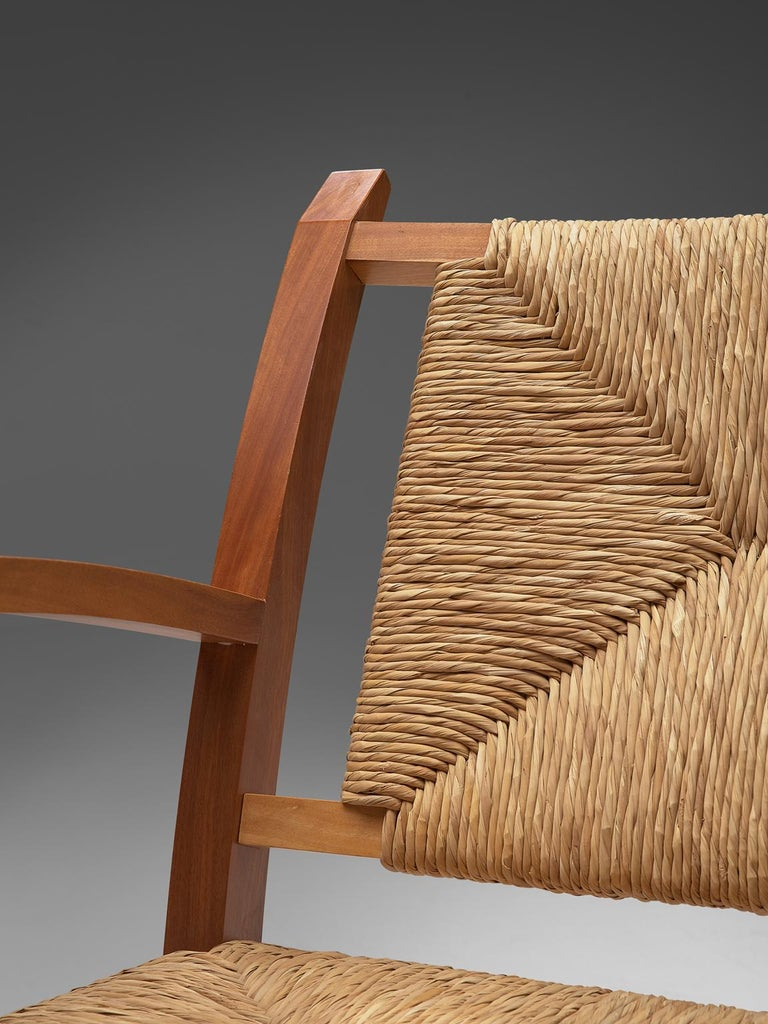 Mid-20th Century Josep Torres Clave Armchairs in Oak and Cane For Sale