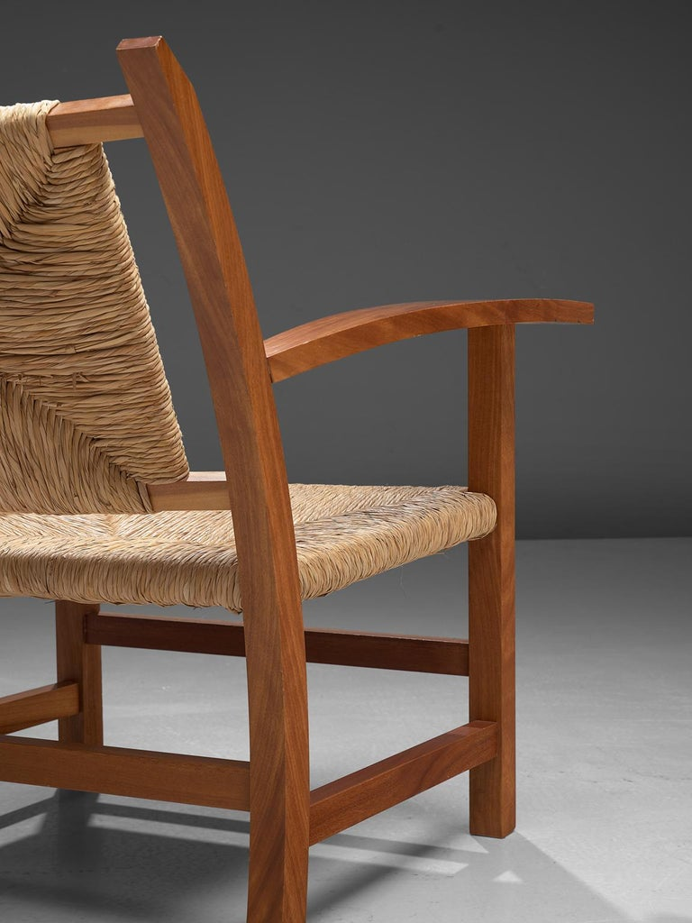 Josep Torres Clave Armchairs in Oak and Cane For Sale 1